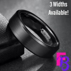 4MM | 6MM | 8MM Black Tungsten Ring